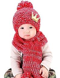 casquettes de Bébé, Yogogo Mignonne bébé Filles Garçons Laine d hiver chaude  ... b840a24c9fc