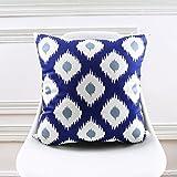 zhzazo la géométrie de canapé bleu et chiffon de matériel de smorzamento doux coussin est décorée et arredata 30x50cm 18