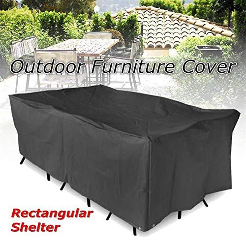 Impermeabile copertura for mobili tovaglia patio da giardino a baldacchino sedia da tavolo riparo rettangolare protettivo copertura antipolvere (size : 325x208x58cm)