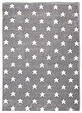 KIDS LOVE RUGS Kinderteppich Star Dreams Silbergrau/weiß 120 x 180 cm