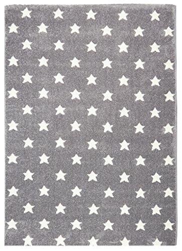 Kinderteppich STAR DREAMS silbergrau/weiß 80 x 150 cm