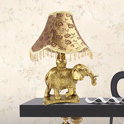 Continental de elefantes cama dormitorio lámparas decoración roja inicio estudio creativo adornos...