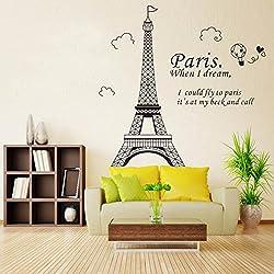 La Tour Eiffel Autocollant Mural Stickers Décoration de Maison Chambre