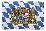 Flagge / Fahne Deutschland Bayern Freistaat + gratis Sticker, Flaggenfritze®
