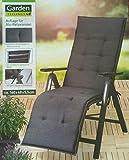 Garden Feelings Auflage für Alu Relaxsessel Stuhl Sessel (Dunkelgrau)