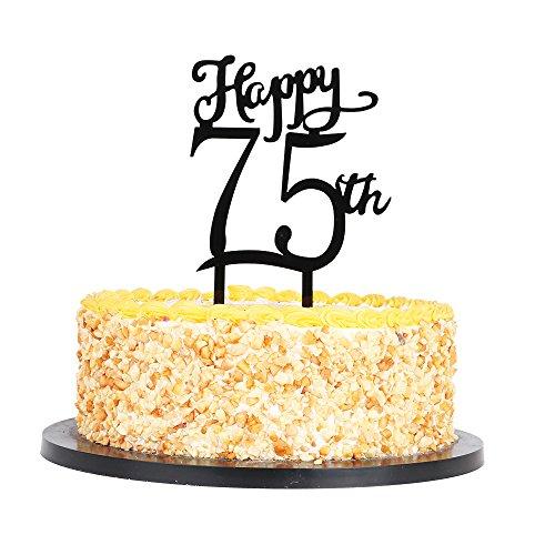 stoff Happy Cake Topper, Geburtstag, Jahrestag Party Acryl Kuchen Dekoration Supplies 75th ()