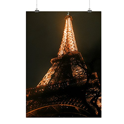 Berühmten Kostüme Rock Star (Eiffel Turm Cool Mode Berühmt Mattes/Glänzende Plakat A3 (42cm x 30cm) |)