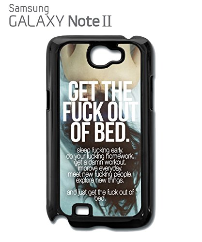 Get The F*ck Out Of Bed Off Quote Instagram Tumblr Funny Mobile Phone Case Samsung Note 2 White Blanc