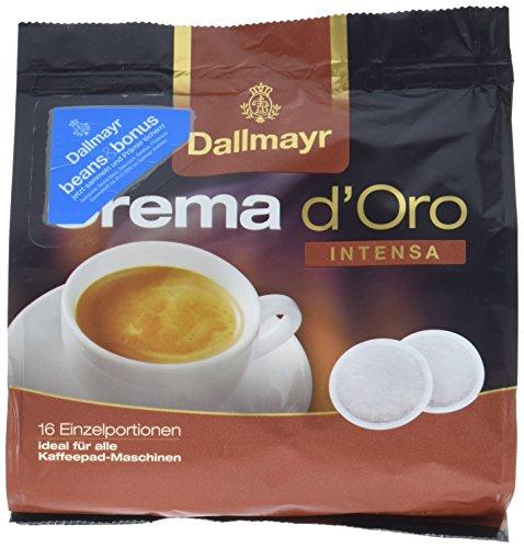 Dallmayr Crema d'oro Intensa Kaffeepads, 16 Stück, 112 g