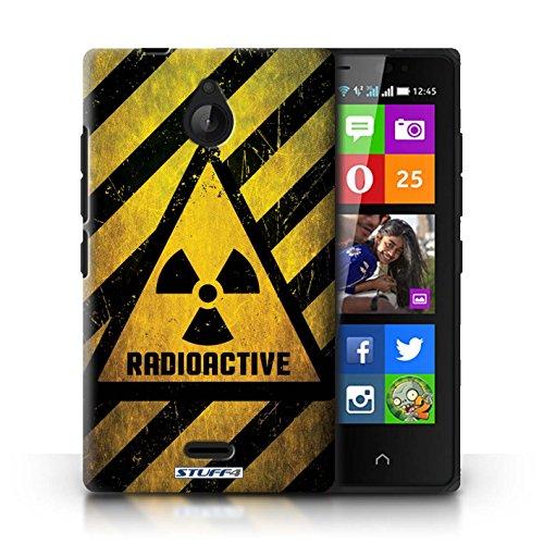 Kobalt® Imprimé Etui / Coque pour Nokia X2 Dual Sim / Décès/Faucheuse conception / Série Signes de Danger Radiation