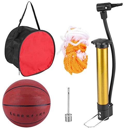 Alomejor Spiel Basketball Größe 7 Street Basketball Ball für Männer Jugend Basketball Indoor Outdoor Training Wettbewerb mit Inflator und Tasche
