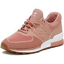 basket new balance femme rose