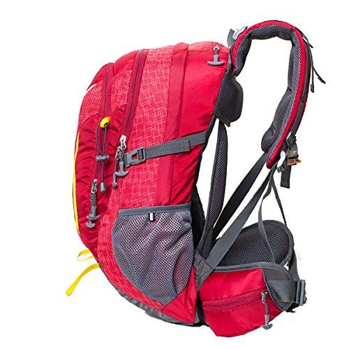 Yy.f40L Militärische Taktik Taschen Rucksäcke Reisetaschen Bergsteigen Im Freien Wandern Camping Wandern Jagen Campen Zu Attackieren. Multicolor Red