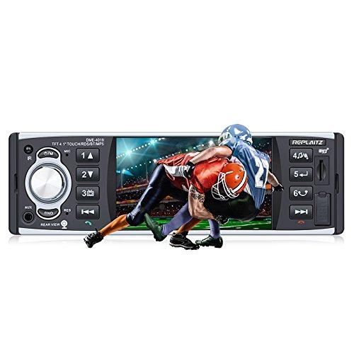 VETOMILE DME-4019 Reproductor MP5 para Coche, 4.1' Pantalla Táctil HD Estéreo Bluetooth Manos libres Radio 1 DIN para Coche, RDS/FM/AUX/USB/TF/Remoto IR + Cámara Visión Trasera