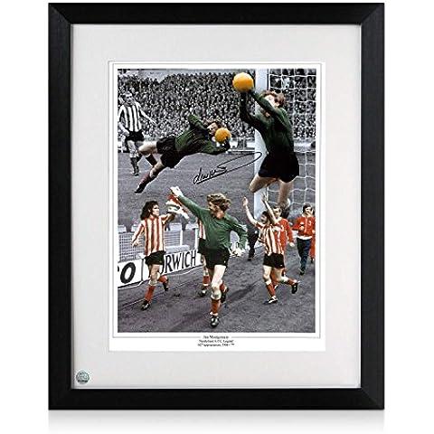 Jim Montgomery firmata e Sunderland Framed 1973 finale di FA Cup Foto - Finale Framed