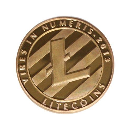 sseell vergoldet Litecoin dekorativ Medaille Sammlerstück Geschenk LTC Medaille Art Collection Physikalische - 2