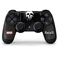 Elton PS4 Controller Designer 3M Skin For Sony PlayStation 4 , PS4 Slim , PS4 Pro DualShock Remote Wireless Controller (set Of Two Controllers Skin) - The Punisher White Skull