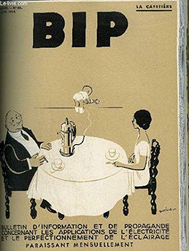 BIP N°68 7E ANNEE JUIN 1934 - J.Guerquin de Monsegou - café electrique - l'électricité dans les cantines scolaires - au kilomètre 39 cuisine savoureuse dans un site agréable - le confort à l'étable une curieuses expérience - une visite à la Monnaie .