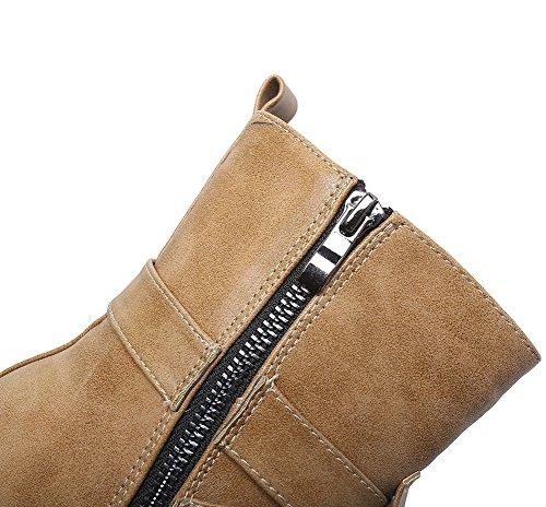 d069b176574d2 ... Cheville Éclair Taille Jaune Boots Chaude Plate Cuir Martin Doublure  Fourré Grande Bottes Intérieur Bloc Femme ...