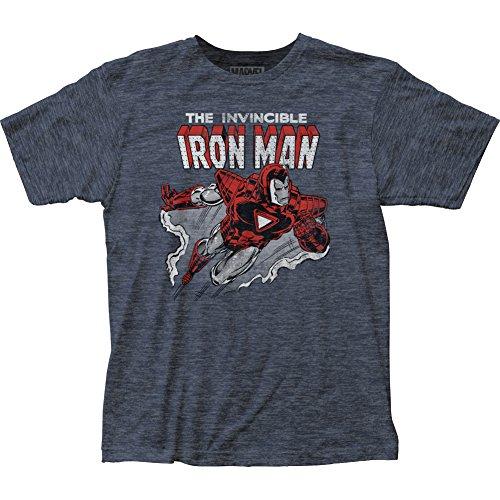 Iron Man Herren T-Shirt Marineblau (Heather Navy)