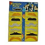 Fami 12 Fausses Drôle Moustaches Amusantes de Tailles Différentes Pour Halloween(Multicolore)