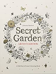 Secret Garden Artist's Edition: A Pull-Out and Frame Colouring Book by Johanna Basford (2015-09-07)