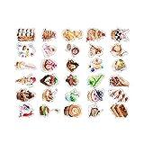 Postkarten Kuchen Form Grußkarten Set von 30