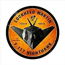 Pasado Tiempo Signos LM019F117Nighthawk redondo de Aviación Vintage Metal Sign
