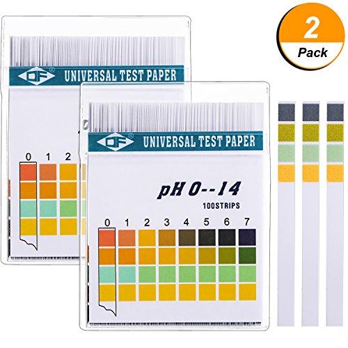 Universal - pH - Testpapierstreifen für Alkalischen Säuretest pH - Wert, Hautpflege, Aquarien, Trinkwasser, mit 4 Testplatten für Erhöhte Genauigkeit, Messen Sie den Vollen Bereich 0 - 14