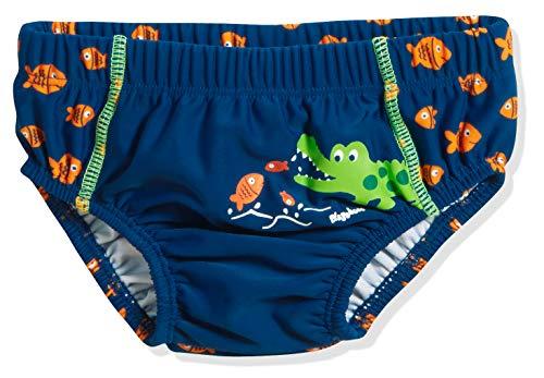Playshoes Baby-Jungen UV-Schutz Windelhose Krokodil Schwimmwindel, Blau (Marine 11), 62 (Herstellergröße: 62/68)