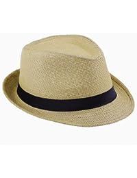 Y-BOA Chapeau de Paille Anti-Soleil Panama Fedora Pliable Voyage/Plage Femme/Homme Été