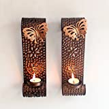 Tied Ribbons Wall Mounted Tea Light Holder With Tealight Candle For Decoration