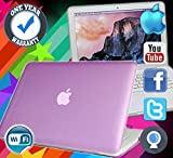 APPLE MACBOOK POWERFUL 250GB HDD 4GB RAM A1342 MAC OS SIERRA WEBCAM LAPTOP PURPLE - MAXIMUM COMPUTERS