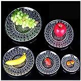 WUYAO Acrílico Diamante Cuencos De Fruta Moda Transparente Cesta De Fruta Plato De Aperitivo Plato De Fruta Plate15-35inch (Size : 30CM)