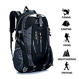 Gshopper Mochila de Viaje 40L Senderismo Ligera Impermeable para Marcha Trekking Camping Montaña Escalada Black