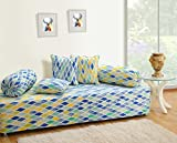 #10: Swayam Diwan Set with Bolster and Cushion Covers (Set of 6)