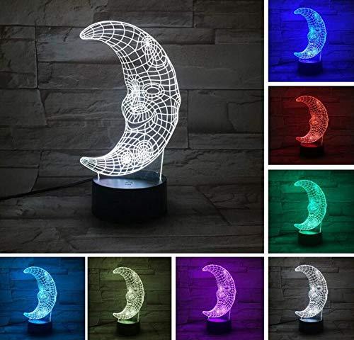 Kronleuchter Deckenleuchte Led-Licht7 Farben Led Lava Lampe Mond 3D Tischlampe Baby Boy Geburtstag Dekoration Halloween Weihnachtsgeschenk