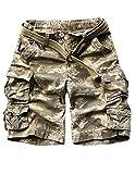 Menschwear Herren Vintage Cargo Shorts Bermuda Kurze Hose Sommer Kurze Hose (38