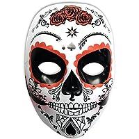 Rubies Mascara Calavera Katrina con Rosas Día de los Muertos, ...