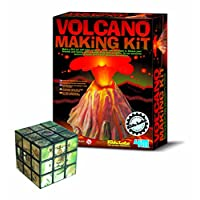 The Good Gift Shop Volcano Teach Myself Geography - Comes with a Fun Wild Animal Magic Cube