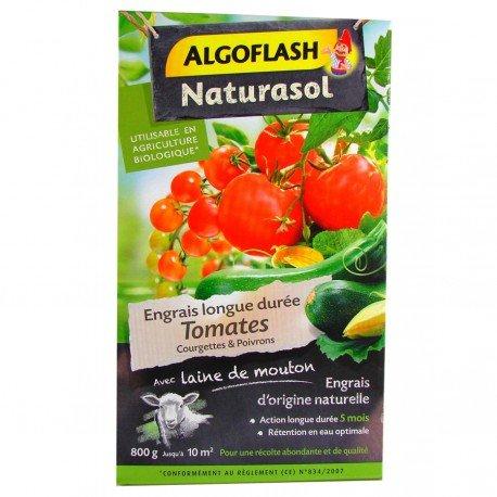 Engrais Tomates Courgettes et Poivrons Algoflash Naturasol 800g