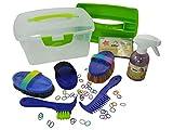 Haas Kinder Putzbox gefüllt blau+ Effol Sternenglanz +Effol Mähnengummis