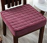DADAO Avanzata sedile comfort,Corsa di spessore cm 8 pad pad, Studente pranzo cuscino pad per sedie ufficio-Rosso 45x45cm(18x18inch)