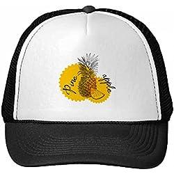 DIYthinker Gorra de béisbol de Nylon de Color Amarillo piña Fruta gráfico Gorros Gorro Fresca niños del Casquillo del Sombrero Ajustable Regalo para Adultos