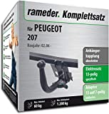 Rameder Komplettsatz, Anhängerkupplung abnehmbar + 13pol Elektrik für Peugeot 207 (143107-05522-1)