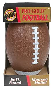 POOF-Slinky 450BL POOF Pro Gold 9.5-Inch Foam Football with Box, Brown by Poof TOY (English Manual)