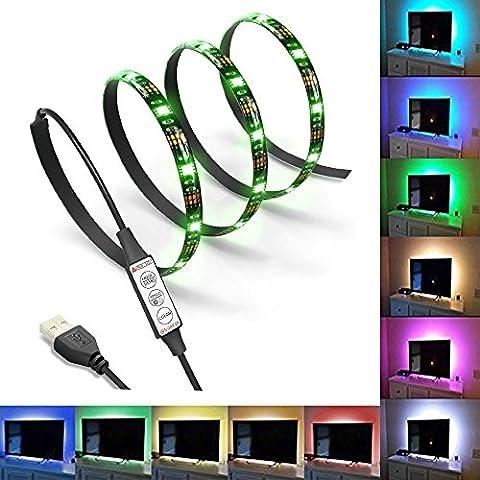 LED Rétroéclairage de la télévision Kits d'éclairage de polarisation pour HDTV USB Alimenté RGB Multi Color Led Light Strip Kits d'éclairage de Home Theater
