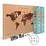 Miss Wood Map Mapa del Mundo de Corcho, ...