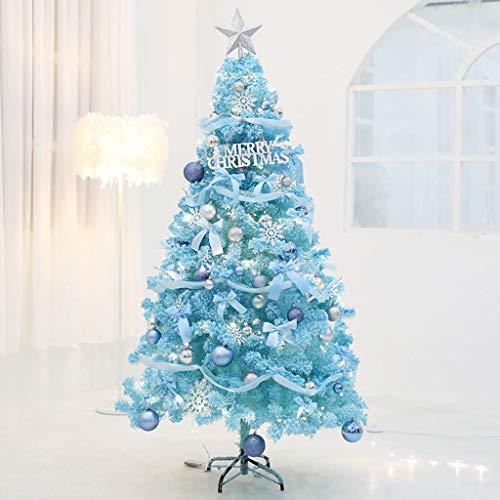ZHI-HA Navideña Arbol De Navidad Decoración,PVC Abeto Soporte Metálico Sistema Plegable Navidad...