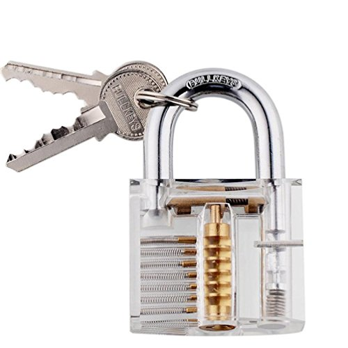 Baonoopy Padlocks Lock For Locksmith Lock Training Trainer with 2 keys Good For Beginners